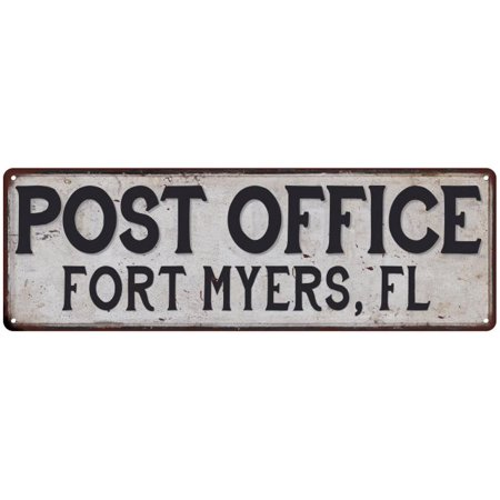 Fort Myers, Fl Post Office Personalized Metal Sign Vintage 6x18 206180011457 ()