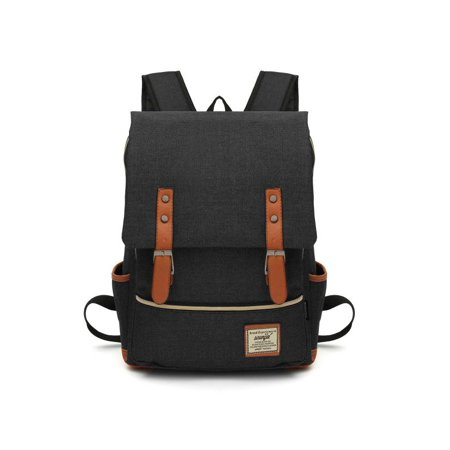 Generic - 7 Colors Unisex Fashion Vintage Canvas Backpacks Laptop Bag Students  School Backpack Travel Bags Satchels Travelling Camping For Men Women Boys  ... 53ed07383beee