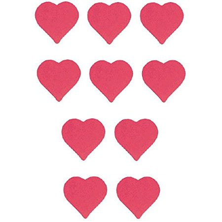 Valentine's Day Packaged Heart Cutouts Party Decoration (10 Pack), 3 3/4