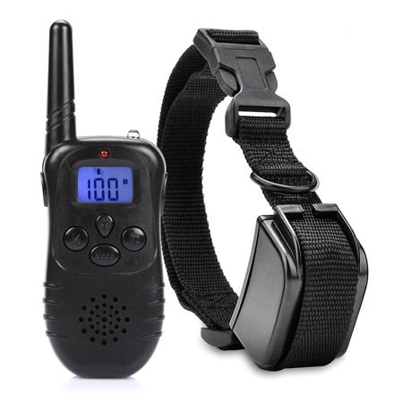 CoastaCloud 330 Yards Remote Control Dog Training Electronic Collar with Dry Batteries with Static Shock / Vibration / Birdcall / Light 100 Level of Vibration and Shock for 1 Dog