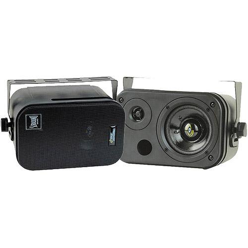 "Pyle 2-Way Bass Reflex Mini- Monitor and Bookshelf/Wall-Mount 3.5"" Speaker"