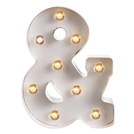 Darice Light Up Marquee Letter: White Ampersand, 9.875 - Light Up Jewelry