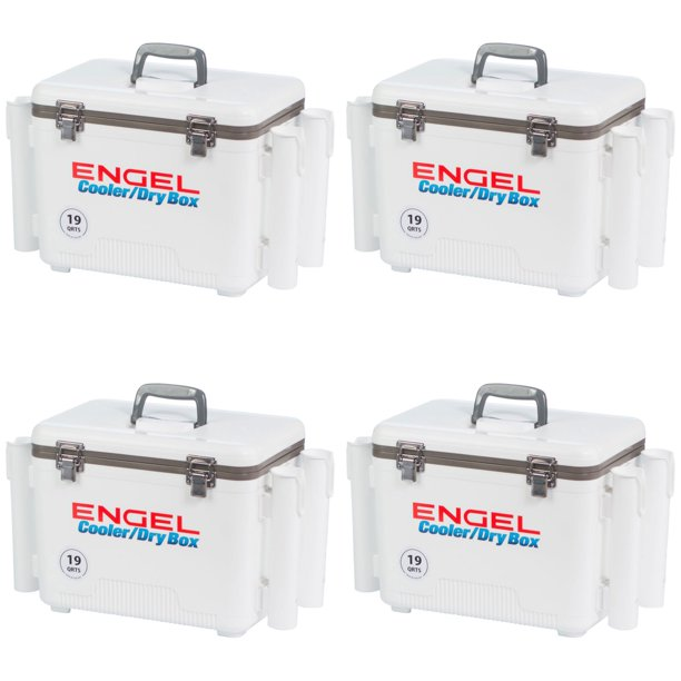 Engel 19 Qt Fishing Rod Holder Attachment Insulated Dry Box Ice Cooler 4 Pack Walmart Com Walmart Com