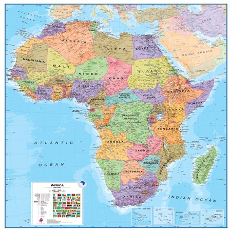 Waypoint Geographic Africa 1:8 Wall Map - Laminated