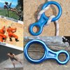 [3 Packs]Rock Climbing Figure 8 Descender, iClover [Heavy Duty] 35KN/3500kg Climb Aluminum Rescue Figure 8 Rigging Plate Climbing Equipment Rappelling Belaying