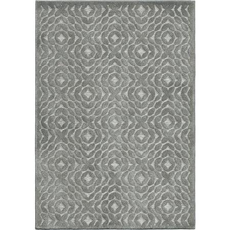 Adderley Braxton Area Rugs - SANDPIPER Contemporary Grey Rings Angled Block Links Rug