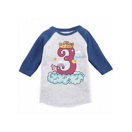 Awkward Styles Princess Toddler Raglan Birthday Girl Jersey Shirt Gifts For 3 Year Old Party Girls