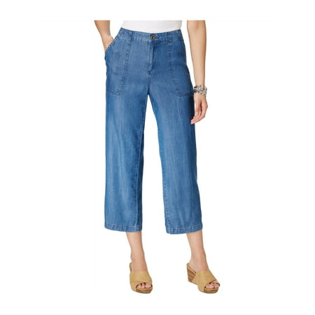 Style&co. Womens Wide-Leg Casual Cropped Pants