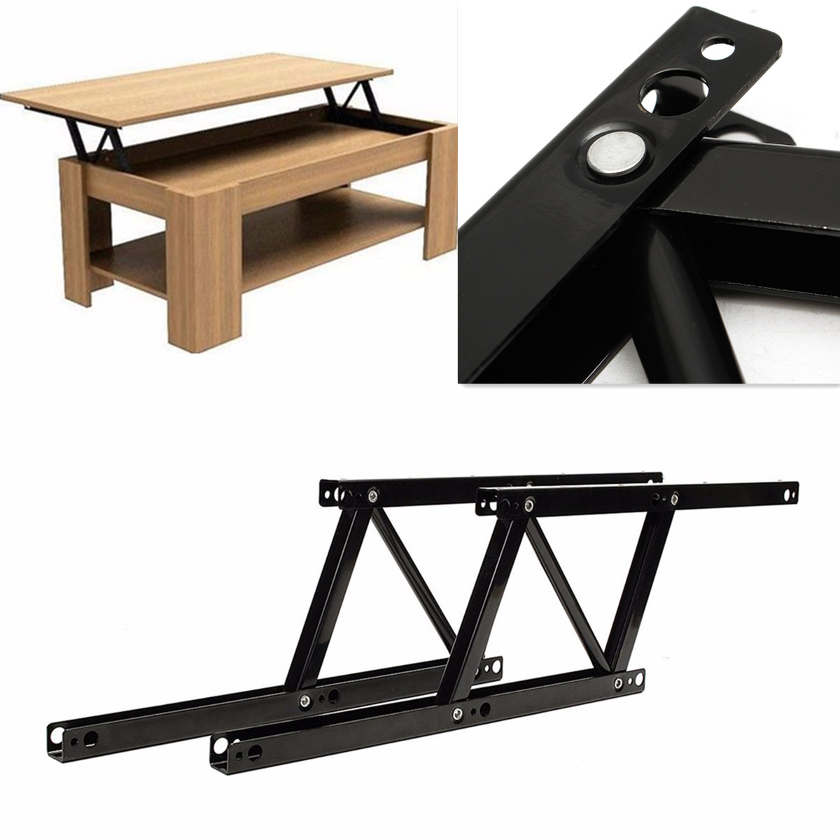 Home Lift Up Coffee Table Mechanism Hardware Fitting Furniture Spring Hinge DIY Materials Cabinet Hinges