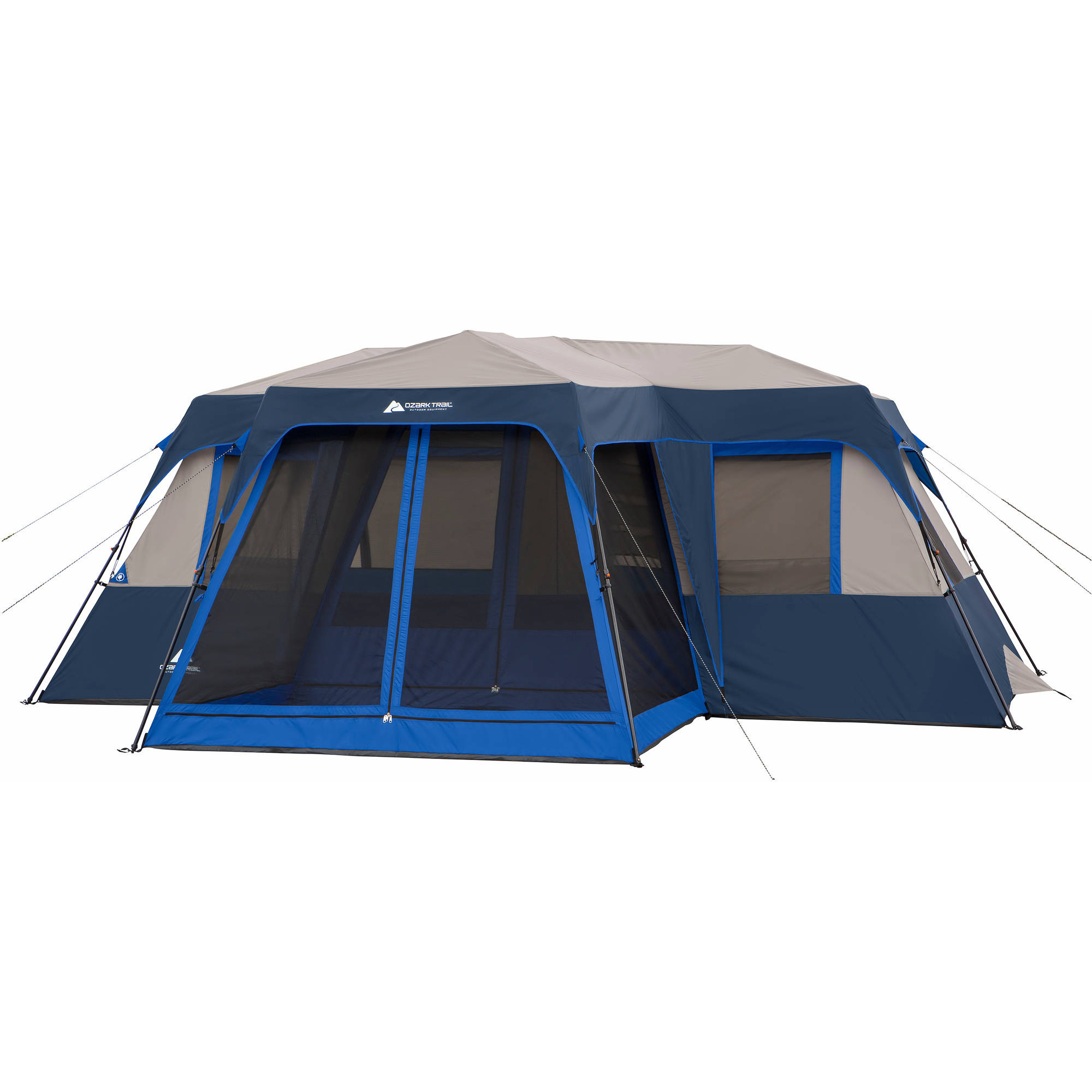 Ozark Trail 12 Person 2 Room Instant Cabin Tent with Screen Room  sc 1 st  Walmart & Instant Tents