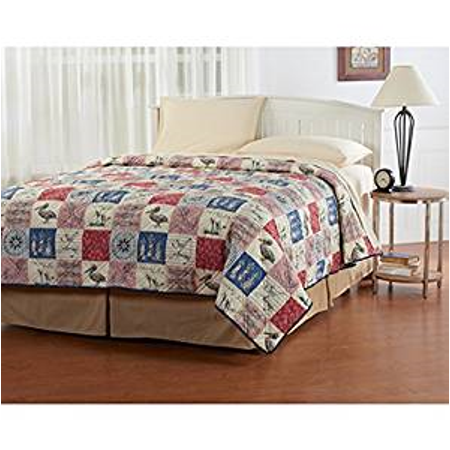 Ashley Cooper Nautical Patch Quilt in King Size