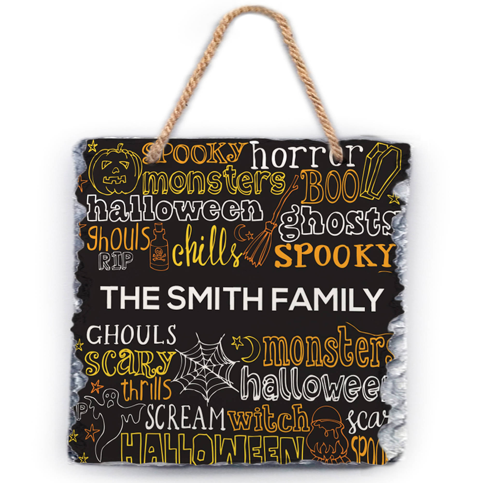 "Spooky Halloween Personalized Wall Slate, 11.8"" x 9.84"""