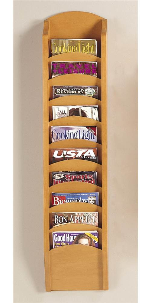 Ten Pocket Magazine Rack (Black) by Lesro Industries, Inc.