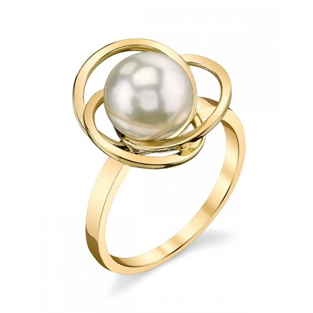 9mm Cultured Pearl Ring (14K 9mm White South Sea Cultured Pearl Lexi)