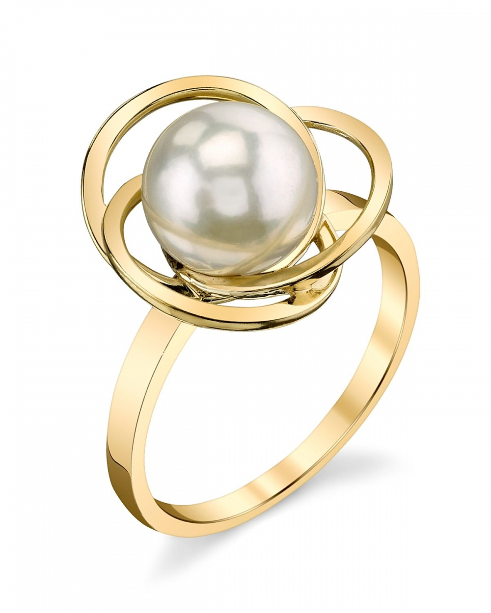 14K 9mm White South Sea Cultured Pearl Lexi Ring