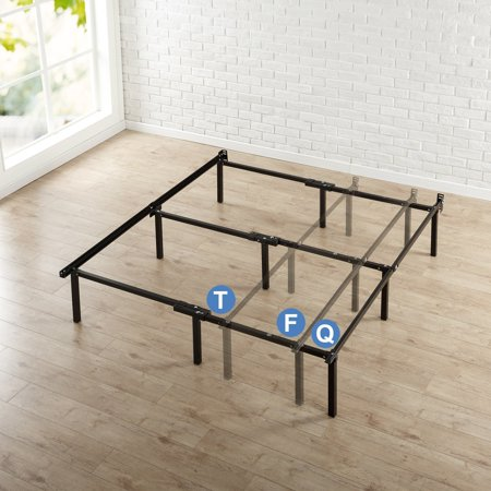 High Supply Adjustable Steel Bed Frame, for Box Spring and Mattress Set, Fits Twin to Queen