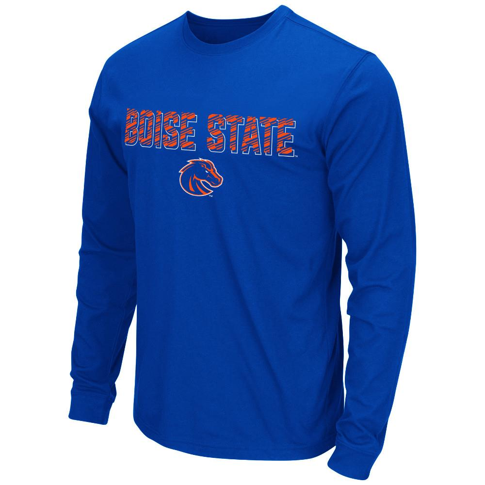 Mens NCAA Boise State Broncos Long Sleeve Tee Shirt (Team Color)