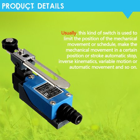2 x M.way ME-8104 Momentary Actuator Action Rotary Roller Lever Arm 2 AC Limit Switch Adjust - image 6 of 11