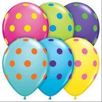 "Pioneer Balloon Company 10240.0 10240 BIG POLKA DOTS COLORFUL ASSORTMENT 11"","