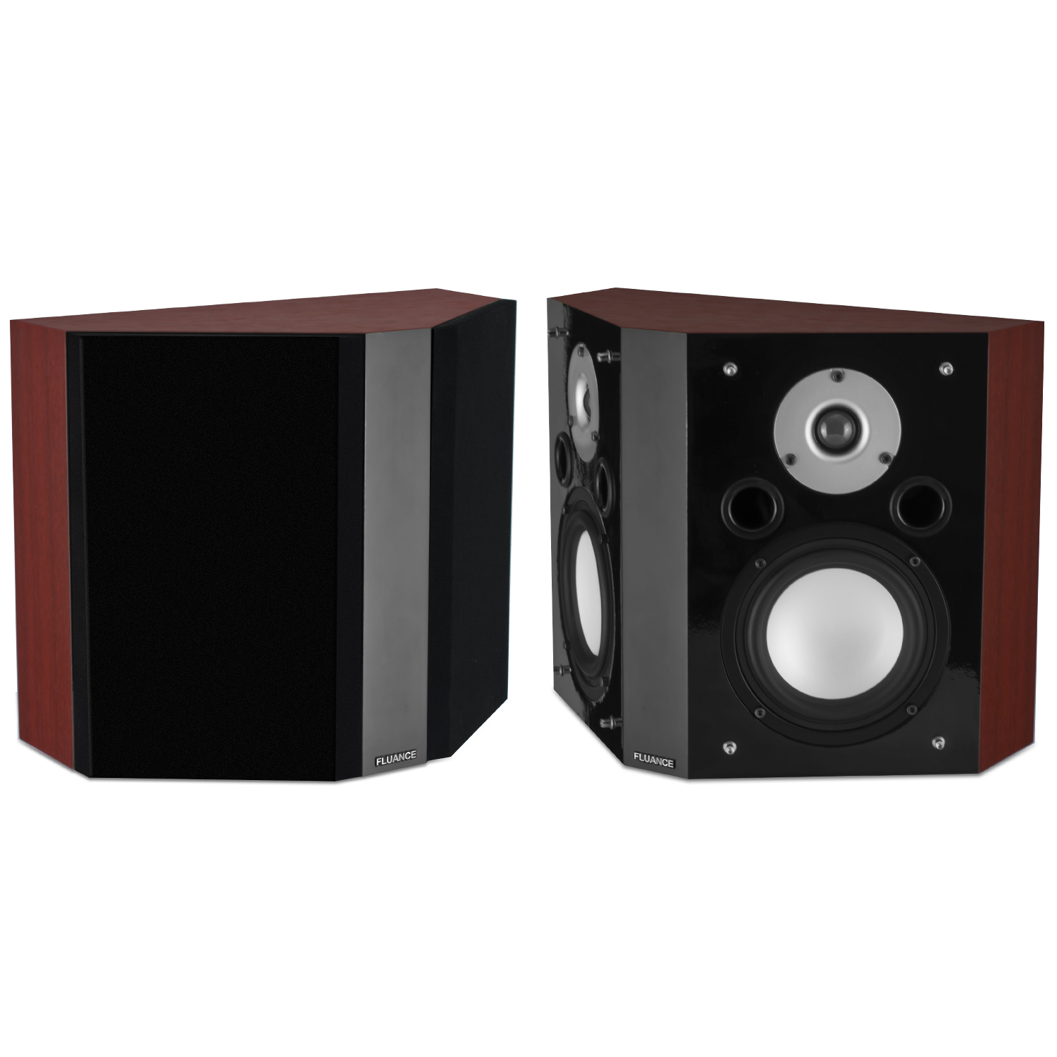Fluance XLBP Wide Dispersion Bipolar Surround Sound Speakers for Home Theater by Fluance