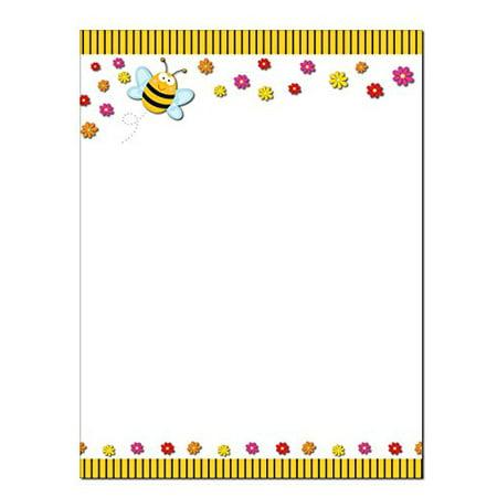 Bumble Bee Stationery - 8.5 x 11-60 Letterhead Sheets - Bee Letterhead (Bee) - B6507