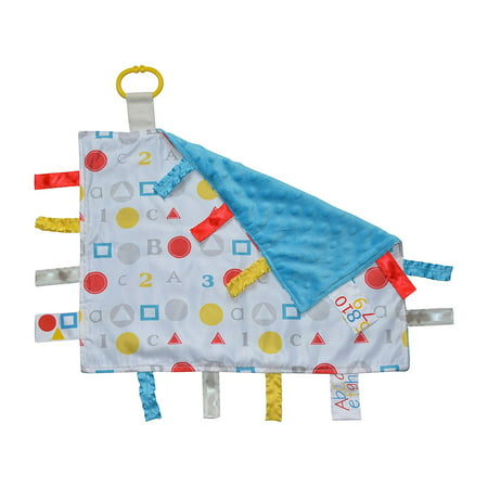 ABC Sensory Educational Tag Blanket, Educational, Comfort, Security, Entertainment, Sensory play focused By Baby Jack Blankets,USA
