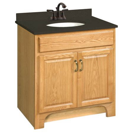 Design House 530394 Richland Unassembled 2 Door Vanity Without Top 30 Nutmeg Oak