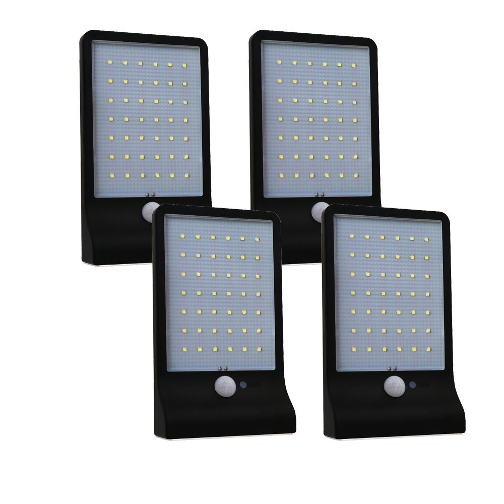 Zimtown 4-Pack 42 LED Gutter Solar Lights Outdoor Securit...