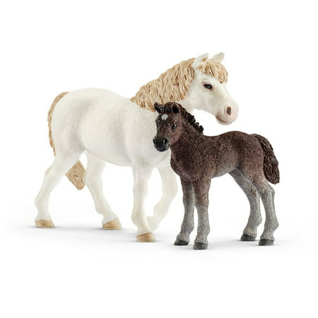 Schleich Farmland, Pony Mare and Foal Toy Figure