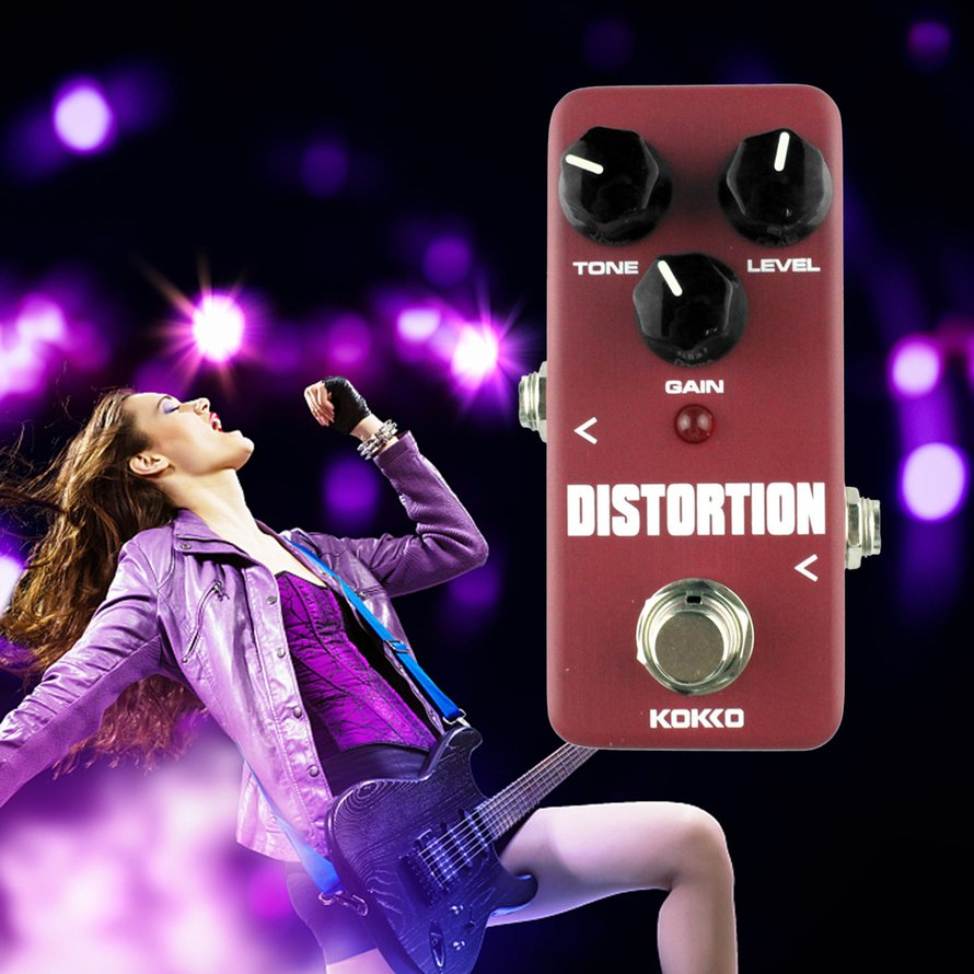 KOKKO FDS2 Mini Distortion Portable Guitar Effect Pedal Processor of Classic Distortion... by