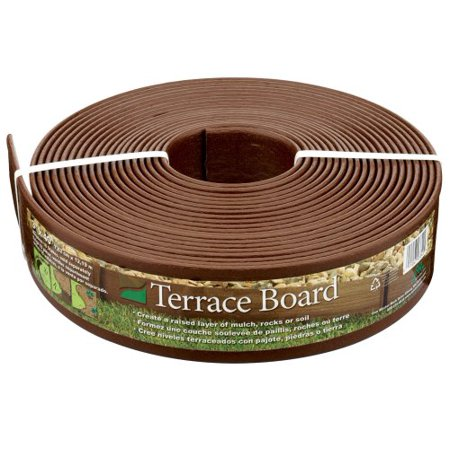 93340 Terrace Board Landscape Edging Coil 3 Inch by 40 Foot, Brown, Provides a textured, wood grained look to your landscape edging By Master Mark Plastics ()