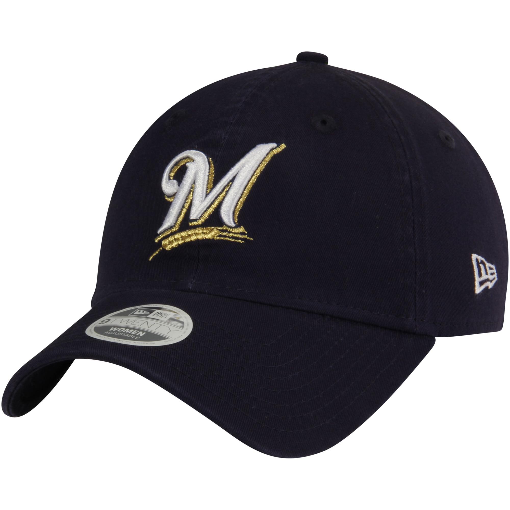 Milwaukee Brewers New Era Women's 9TWENTY Essential Adjustable Hat - Navy - OSFA