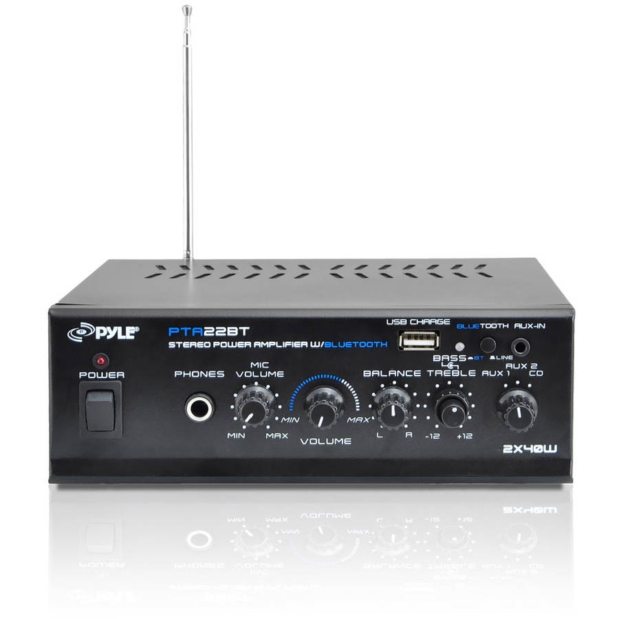 Pyle PTA22BT Mini-Blue Series Bluetooth Stereo Amplifier