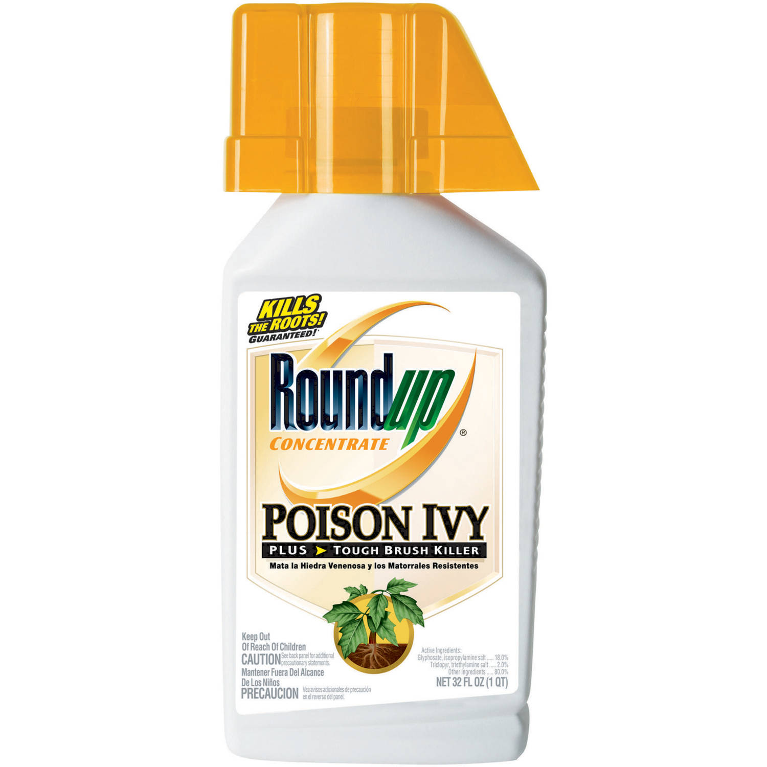 Roundup Concentrate Poison Ivy Plus Tough Brush Killer 32 Oz