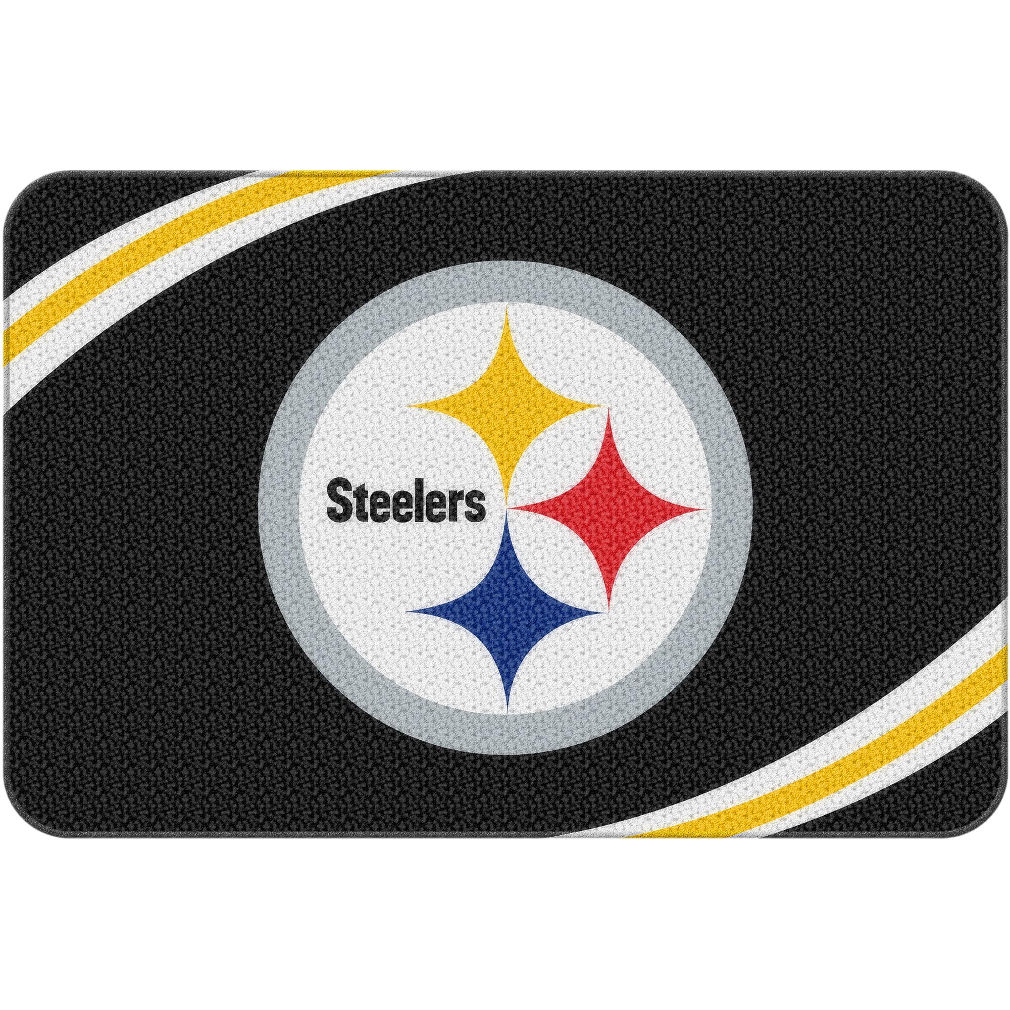 . NFL Pittsburgh Steelers 20  x 30  Round Edge Bath Rug   Walmart com