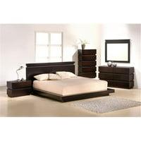 J & M Furniture 1754426-DM Knotch Dresser & Mirror - Expresso
