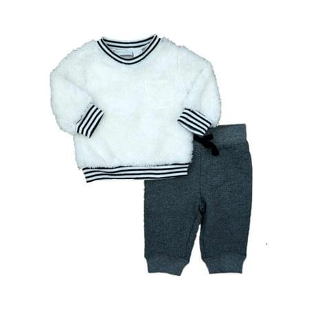 Boys 1st Stripes - First Impressions Infant Boys Fox Shirt Striped Pants Sweatsuit 2 Piece Set