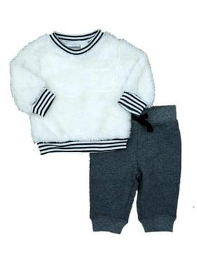 96ea049103b3 Product Image First Impressions Infant Boys Fox Shirt Striped Pants  Sweatsuit 2 Piece Set