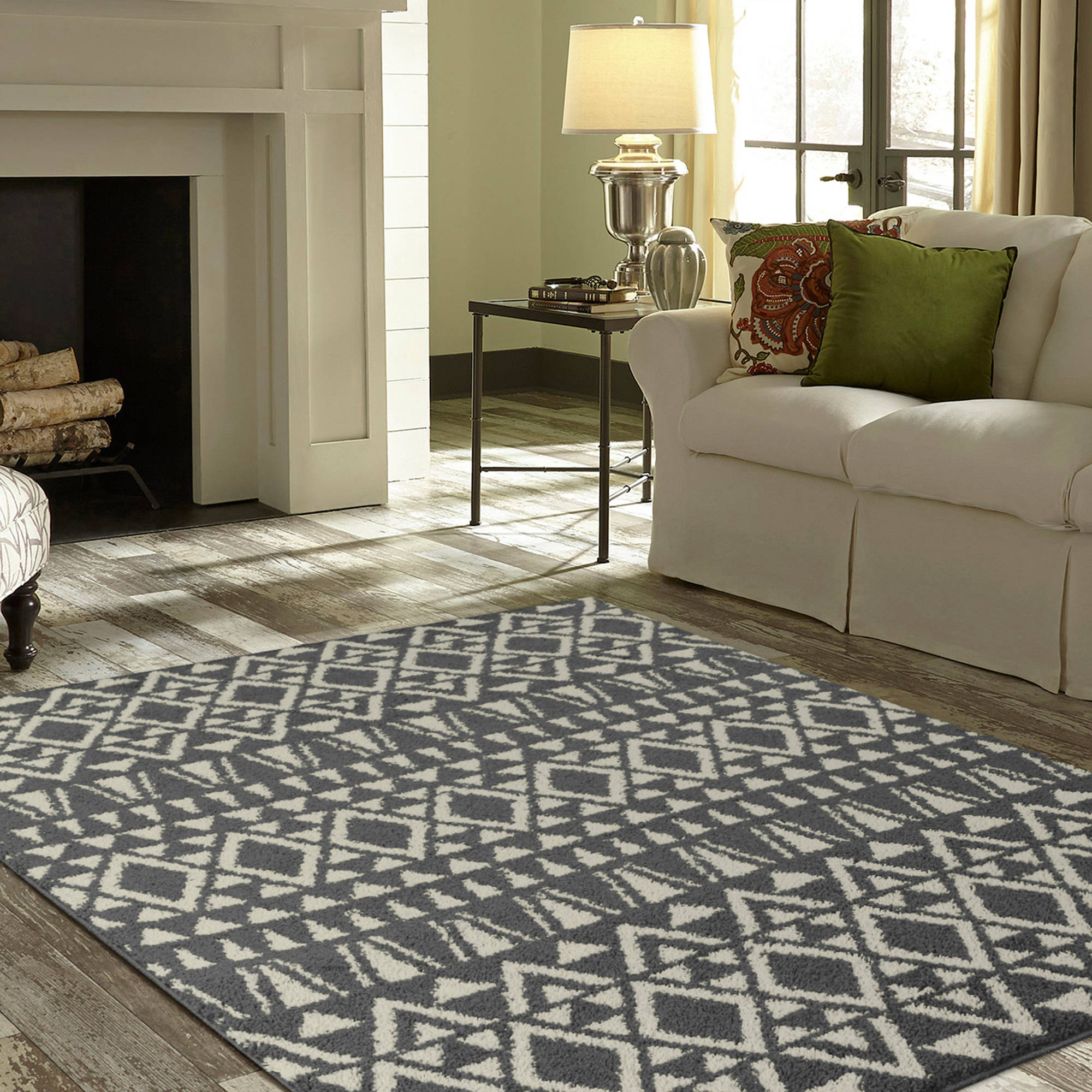 Shag Area Rugs For Living Room mainstays morgan shag area rugs or runner - walmart