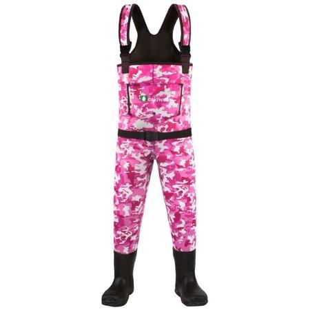 Oakiwear Kid's Pink Camo 10/11 Shoe Size 6 Neoprene Waders thumbnail