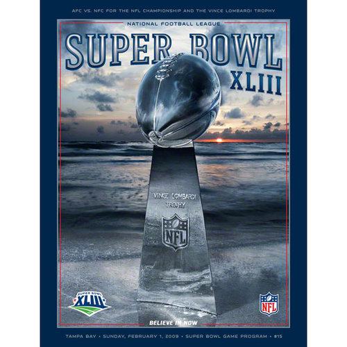 NFL - Canvas 36 x 48 Super Bowl XLIII Program Print | Details: 2009, Steelers vs. Cardinals