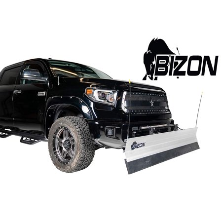 Bizon Aluminum Snow Plow (fits) 1999-2007 Chevy Silverado GMC Sierra 1500 ONLY Includes Blade, Push Bar, Blade Markers, and 2