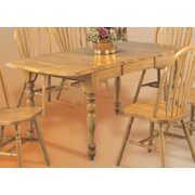 Drop Leaf Extension Dining Table in Light Oak Finish