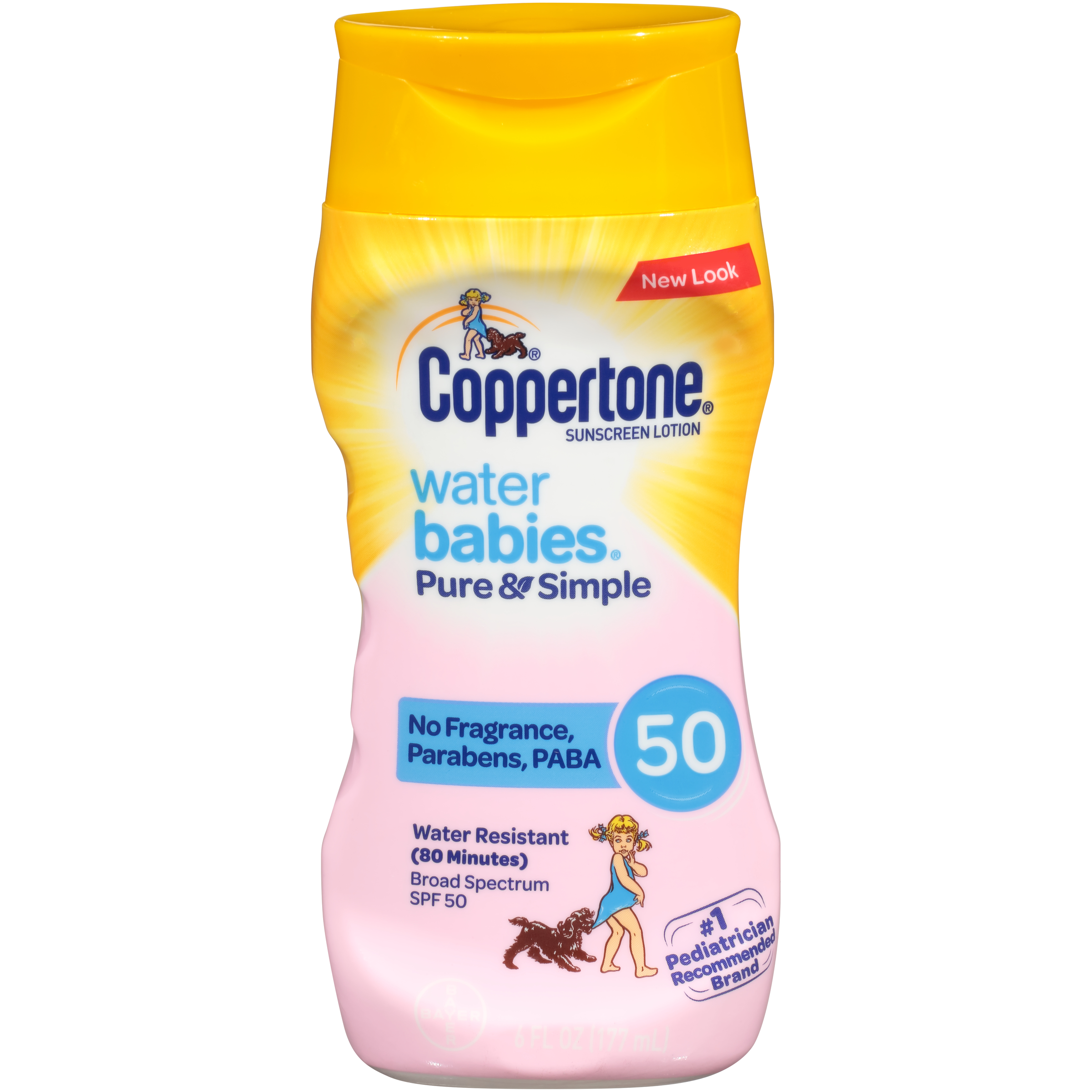 Coppertone WaterBABIES Pure & Simple Fragrence Free Sunscreen Lotion SPF 50, 6 Oz