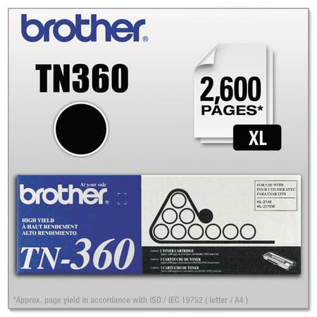 Brother TN360 High-Yield Toner, Black