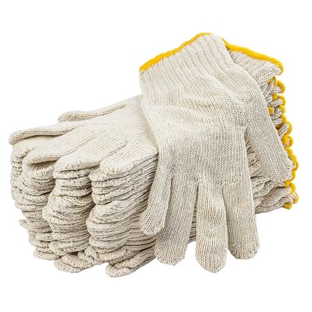Seamless Metal Shell (300 Pack String Knit Gloves 9.5