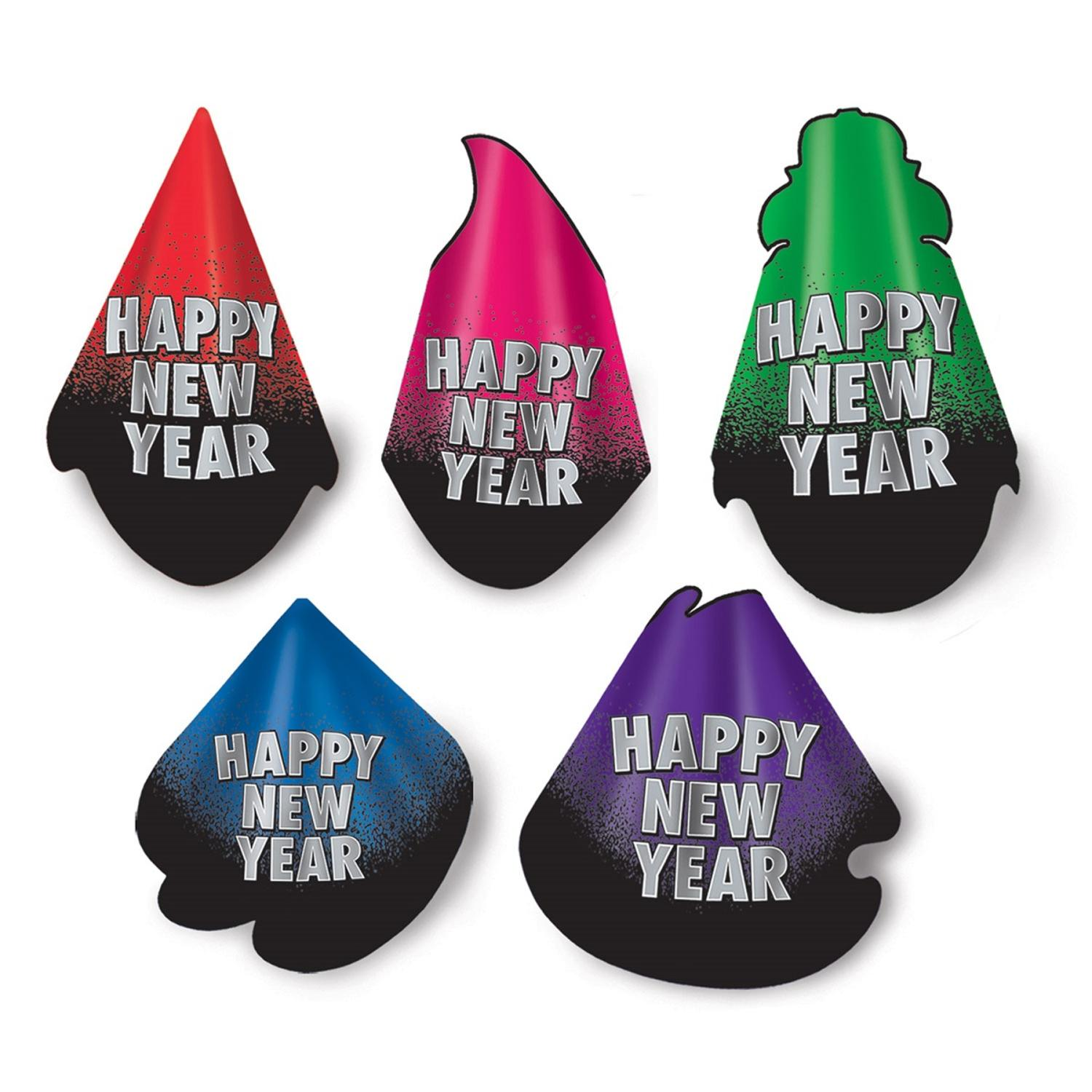 """Club Pack of 50 New Year Resolution """"Happy New Years"""" Legacy Party Favor Hats"""