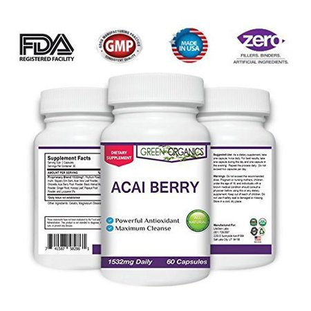 Organic Acai Berry - Potent Formula that Supports Weight Loss & a Fast