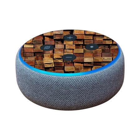 Skin For Amazon Echo Dot (3rd Gen) - Stacked Wood | MightySkins Protective, Durable, and Unique Vinyl Decal wrap cover | Easy To Apply, Remove, and Change Styles