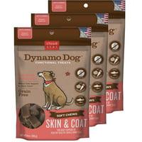 Cloud Star Dynamo Dog Skin & Coat - Salmon 14 oz Functional Treats 3 Pack